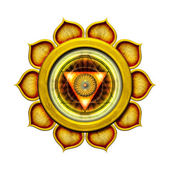 Solar Plexus Chakra Mandala — Stock Photo