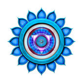 Throat Chakra Mandala — Stock Photo