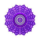 Crown Chakra Mandala — Stock Photo