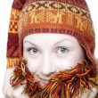 Womin ethnic hat — Stock Photo #17693539