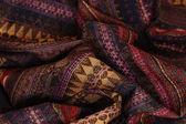 Verfrommeld textiel achtergrond — Stockfoto