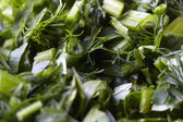 Cut herbs mix — Stock Photo