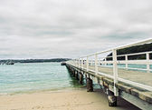 Long White Pier — Stock Photo