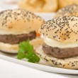 Mini Cheeseburgers - Stock Photo