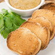 Stock Photo: Thai Toast and Peanut Sauce