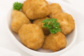Breaded Deep Fried Mushrooms — Stock Photo