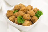 Gebratene popcorn chicken — Stockfoto