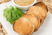 тайский тост и ореховым соусом — Стоковое фото