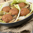 Lions Head Meatballs — Stock Photo