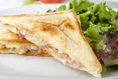 Bacon & Cheese Toastie — Stock Photo