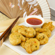 Stock Photo: Oriental Deep Fried Battered King Prawns