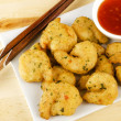 Oriental Deep Fried Battered King Prawns — Foto de Stock
