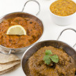 Goan Chicken Xacuti and Meat Madras — Stock Photo