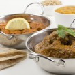Goan Chicken Xacuti and Meat Madras — Foto Stock