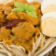 Dry Curry Mee - Stockfoto