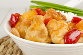 Sweet and Sour Chicken and Rice — Stock Photo