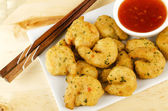 Oriental Deep Fried Battered King Prawns — Stock Photo