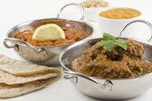 Goan Chicken Xacuti and Meat Madras — Stock Photo