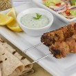 Chicken Tikka Kebab - Stock Photo