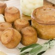 Melton Mowbray Pork Pies & Pickled Silverskin Onions — Stock Photo