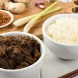 Stock Photo: Beef Rendang & Sticky Rice