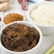 Beef Rendang & Sticky Rice — Stock Photo