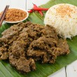 Beef Rendang & Sticky Rice — Foto Stock