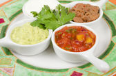 Mexican Dips & Side Dishes — Stock Photo