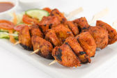 Chicken Tikka Kebab — Stock Photo
