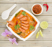 Tom Yum Nam Khon — Stock Photo