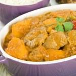 Lamb and Sweet Potato Peanut Curry — Stock Photo #21188451