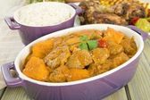 Lamb and Sweet Potato Peanut Curry — Zdjęcie stockowe
