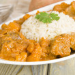 Lamb and Sweet Potato Peanut Curry - Stock Photo