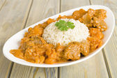 Lamb and Sweet Potato Peanut Curry — Stockfoto