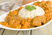 Lamb and Sweet Potato Peanut Curry — Stock Photo