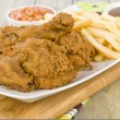 Fried Chicken & Chips — Stock Photo #21829641