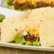 Shredded Beef Fajitas — Stock Photo