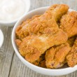 Southern Fried Hot Chicken Wings — Stock Photo #29729635