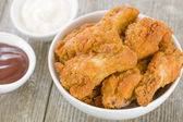 Southern Fried Hot Chicken Wings — Stock Photo