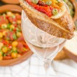 Stock Photo: Tapas on Glass
