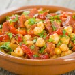 Garbanzos y Chorizo — Stock Photo