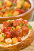 Garbanzos y Chorizo Tapas — Stock Photo