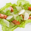 Tomato, Cucumber, Onion and Lettuce Salad — Stock Photo