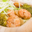 Постер, плакат: Prawns with Ginger and Spring Onion