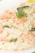 Prawn Risotto Bianco — Stock Photo