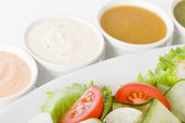 Salad & Dressings — Stock Photo