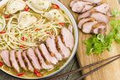 Wonton Noodle Soup — Stock Photo