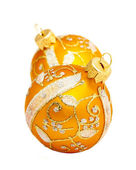 Golden ball for Christmas tree ornaments. — 图库照片