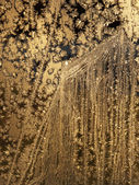 Background with golden snowflakes — Stock Photo