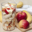 Cocktail of apple and  banana . — Stock Photo